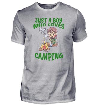 Camping Young man love