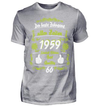 60. Geburtstag T-Shirt Jahrgang
