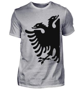großer albanischer Adler shirt kosovo