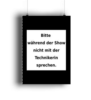 Warnhinweis Technikerin - lustig - VII