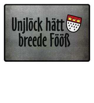 Unjlöck hätt breede Fööß - Fußmatte