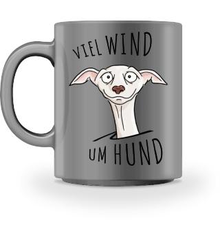 Viel Wind um Hund Windhund Tasse