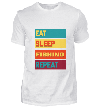 Eat Sleep Fishing Repeat Distressed Edit