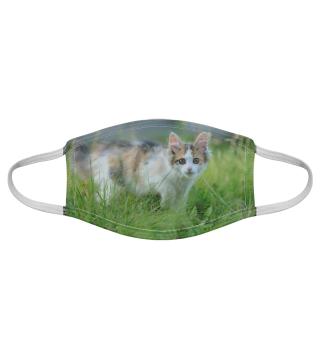Gesichtsmaske mit Katzenmotiv 20.54