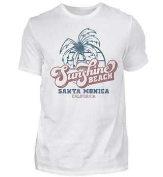 Sunshine Beach Santa Monica - Basic Tee
