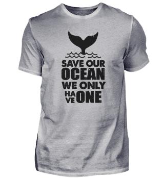 Save our ocean whale
