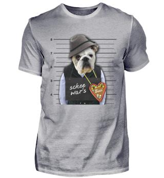 Lustiger Oktoberfest Bulldogge