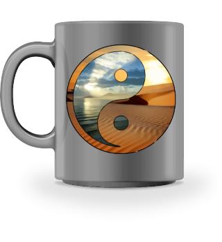 yin yang - ocean desert