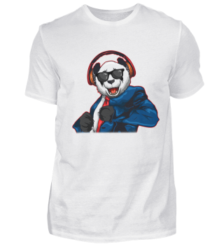 Hipster Party Panda DJ Headphones Suit