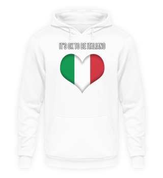 IT'S OK TO BE ITALIANO| black #itsok