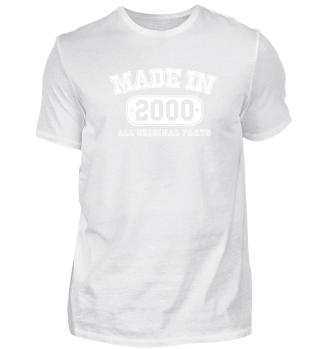 Made in 2000 Birthday Shirt Made in Gift