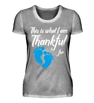 Pregnant thankful Schwangerschaft