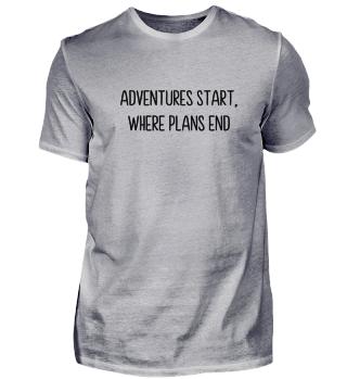 Adventures start Geschenk Idee