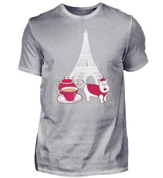 Paris Eiffel Tower Tea Love Frenchman