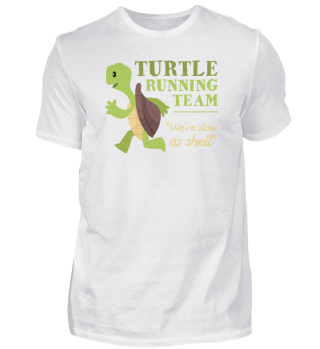 Turtle Running Team Funny Gift Sea Shell