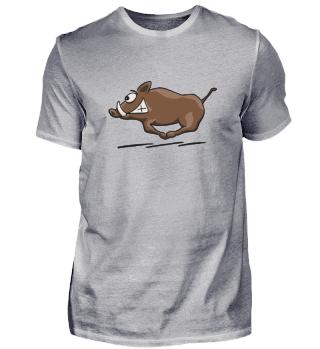 rennende Wildsau | Sauwild Wildschwein