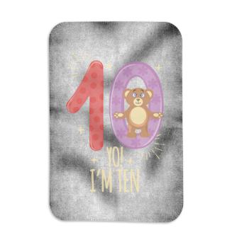 10th Birthday Bear Teddy