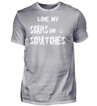 SCRATCHES shirt ladies black