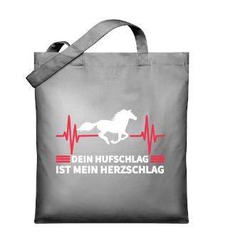 Herzschlag Pferd Tshirt Reiten Taschen