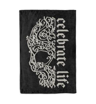 Artsy Vintage Skull - Celebrate Life 2a