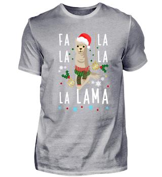 Falalalala Lama - Weihnachts Alpaka Fans