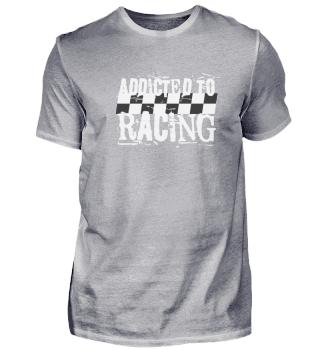 Lustiges Auto Mororrad T-Shirt Race
