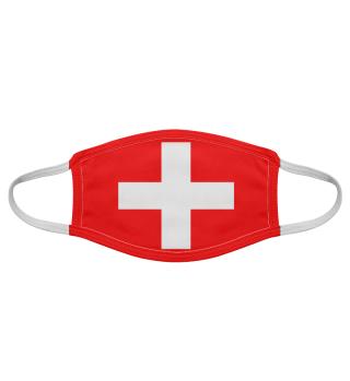 Schweiz Maske Gesichtsmaske Stoffmaske