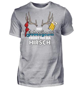 Oktoberfest Wiesn Lederhose Hirsch