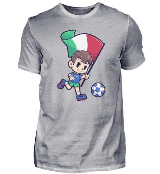 Italy Soccer Player Stadium Flag
