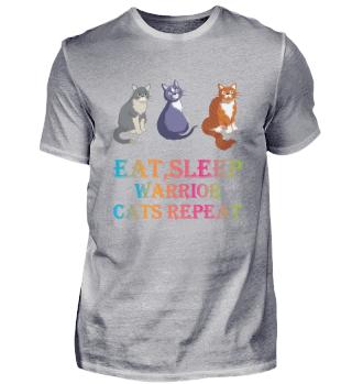 Eat Sleep Warrior Cats Repeat Funny Cat