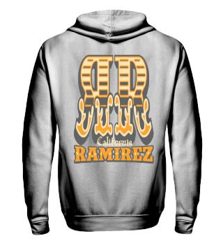 Herren Zip Hoodie Sweatshirt RR Ramirez