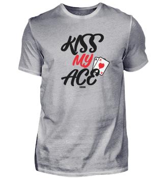 Poker Kuss Ass lustiger Spruch Geschenk