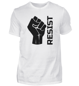 Resist with fist - in black