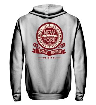 Herren Zip Hoodie Sweatshirt New York Academy Ramirez