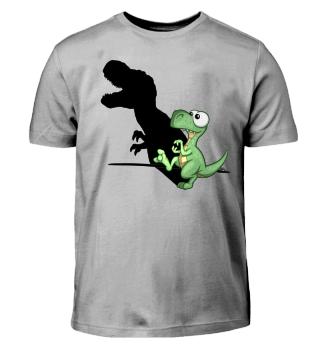 Dino Spaß Schattenbild T-Rex Silhouette