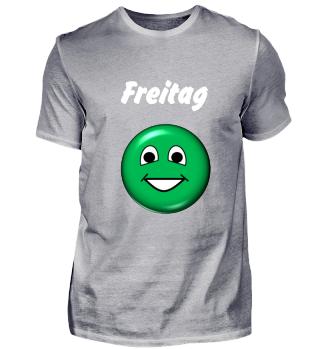 Stimmungs-Shirt Freitag, dunkel