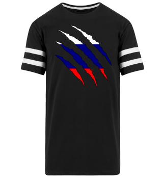 Russland Flagge Shirt Geschenk Idee