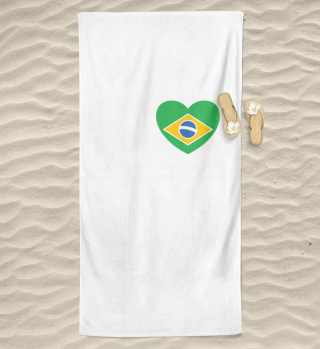 I love LOVE Brazil Flag Flag Heart