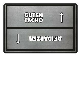 Guten Tacho Fußmatte hell