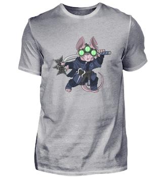 Tactical Black Ninja Cat
