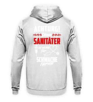 Sanitäter Notfallsanitäter · Achtung