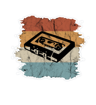 Retro Mixtape Vintage Kassette Sticker
