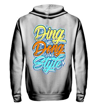 Herren Zip Hoodie Sweatshirt Ding Dong Style Ramirez