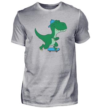 Skateboarding Dinosaurier T-Rex