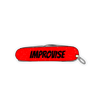 Improvise Red Army Pocket Knife Fun Tool