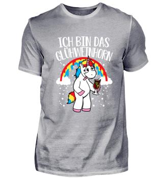 Glühwein Einhorn Unicorn lustig Geschenk