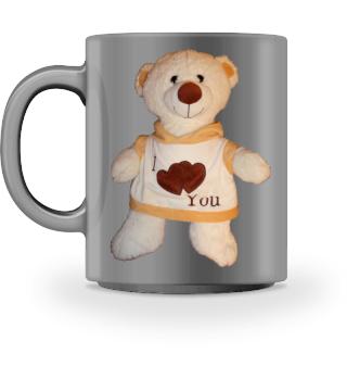 Tasse Teddy weiß, einseitiger Druck
