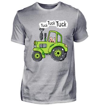 Lustiges Schwein Fährt Traktor I Bulldog
