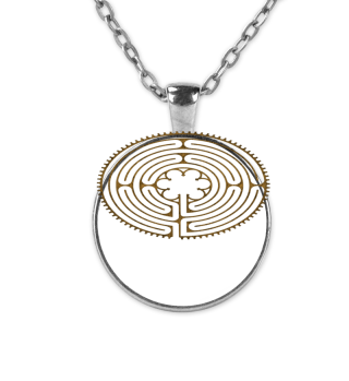 Chartres Labyrinth antique metal