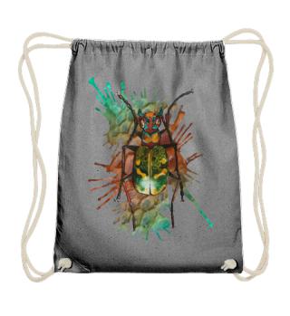 Beautiful Watercolor Bug - green